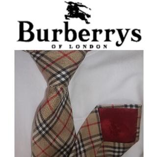 BURBERRY - BURBERRY バーバリー ネクタイ シルク ノバチェック柄