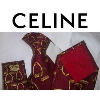 セリーヌ(celine)の美品‼️ CELINE セリーヌ メンズネクタイ シルク イタリア製(ネクタイ)