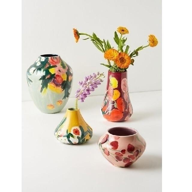 Anthropologie(アンソロポロジー)のアンソロポロジー 花瓶 イエロー♡ インテリア/住まい/日用品のインテリア小物(花瓶)の商品写真