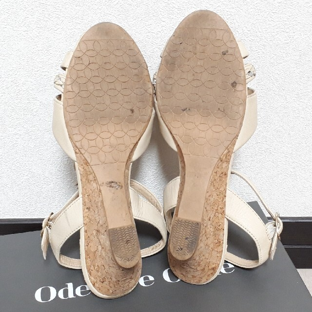 Pitti(ピッティ)のPitti ピッティ フラワーモチーフ ウェッジサンダル レディースの靴/シューズ(サンダル)の商品写真