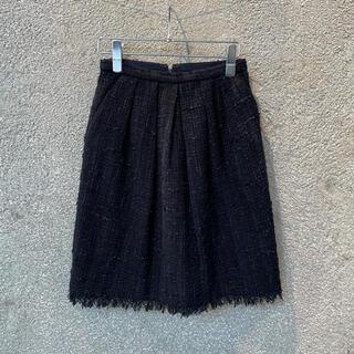 スピックアンドスパン(Spick and Span)のspike&span スピックアンドスパン ツイードスカート(ひざ丈スカート)