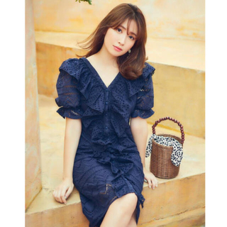 snidel - her lip to♡Cotton Lace Ruffled Dress