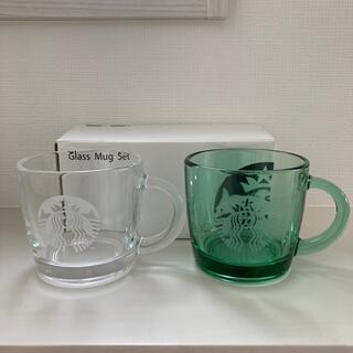 Starbucks Coffee - 【未使用】スタバ ガラスマグ 2個セット 350ml