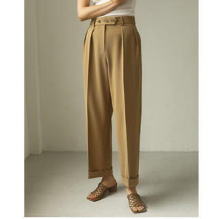 TODAYFUL - todayful  twill tuck trousers