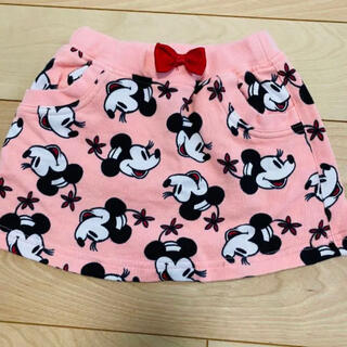 Disney - ミニーマウス キッズ スカート 80