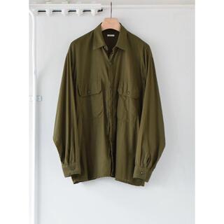 COMOLI - COMOLI 21SS新作 ベタシャン CPOシャツ オリーブ サイズ3 新品