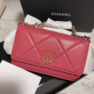 CHANEL - CHANEL チェーンウォレット 新品未使用 ピンク
