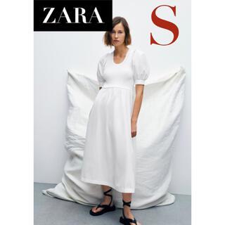 ZARA - 【新品/未着用】ZARA マッチングニットワンピース シャツワンピース