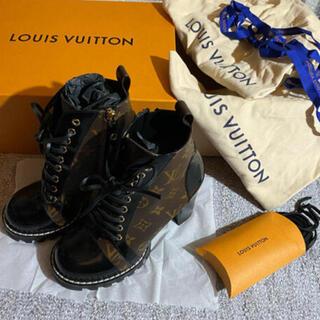 LOUIS VUITTON - 美品 37 モノグラム スタートレイル ルイヴィトン アンクルブーツ ブーツ
