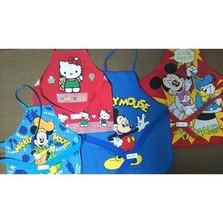 Disney - ミッキー、キティ、プーさん、スヌーピー子どもエプロン