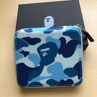 アベイシングエイプ(A BATHING APE)のアベイシングエイプ ブルー迷彩 二つ折り財布(折り財布)