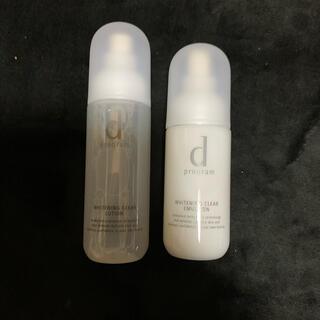 d program - dプログラムホワイトニング化粧水、乳液