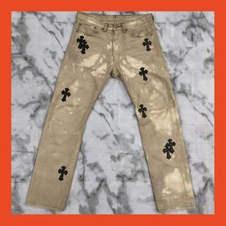 Chrome Hearts - Levi's 505(W34 / 92cm)革パッチカスタム