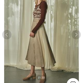 Lily Brown - lilybrown サイドプリーツスカート アイボリー ホワイト 01 Sサイズ