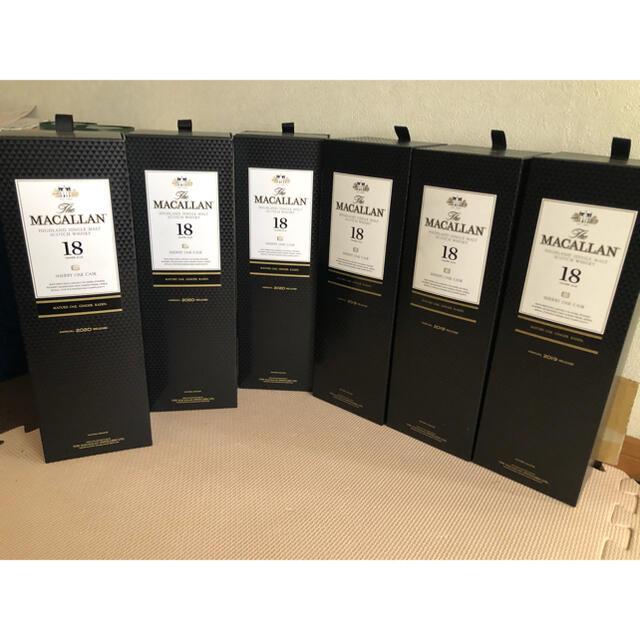 サントリー(サントリー)のマッカラン18年 700ml×6本セット 2020年3本、2019年3本。未開栓 食品/飲料/酒の酒(ウイスキー)の商品写真