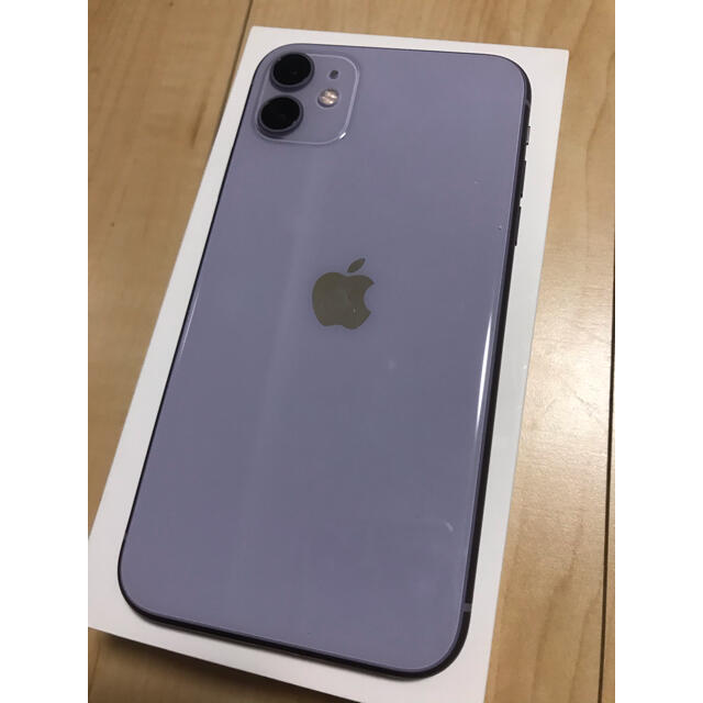 Apple(アップル)のiPhone 11 本体 128GB SIMロック解除済 スマホ/家電/カメラのスマートフォン/携帯電話(スマートフォン本体)の商品写真