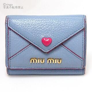 miumiu - 【良好】miumiu ラブレター ハート 三つ折り ミニ 財布