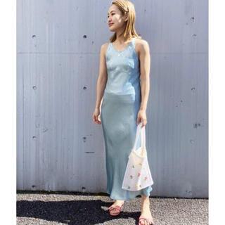 EDIT.FOR LULU - EDIT FOR LULU アセテートサテンタンクドレス ワンピース 新品タグ付