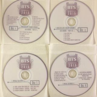 BTS Memories of 2015 4枚