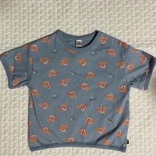 新品未使用 フタフタ くま柄Tシャツ 110  ブルー