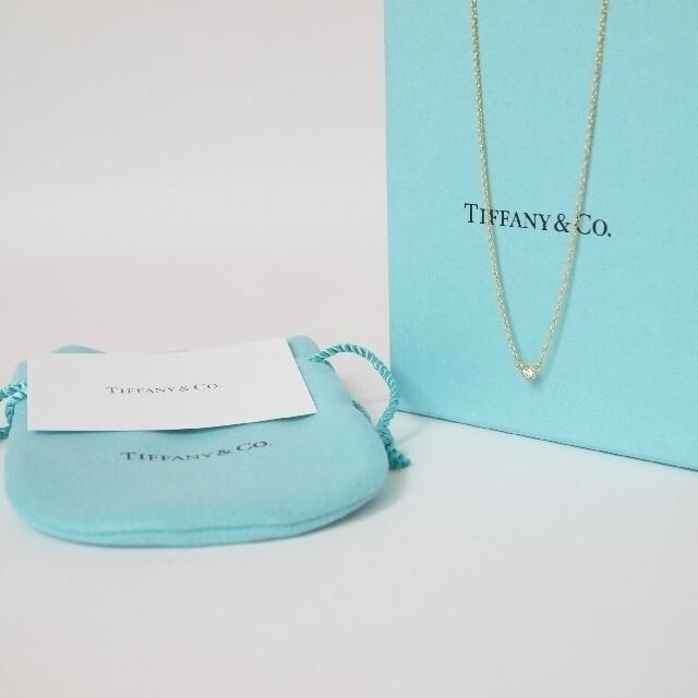 Tiffany & Co.(ティファニー)のティファニー バイザヤード ネックレス K18 ダイヤモンド ペンダント 極美品 レディースのアクセサリー(ネックレス)の商品写真