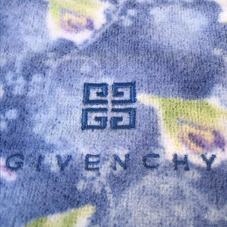 ジバンシィ(GIVENCHY)のジバンシー ハンドタオル/ブルー 花柄(タオル/バス用品)