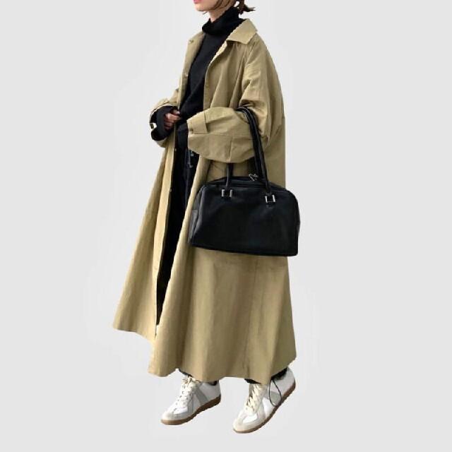 FASHIRU  ステンカラーロングコート  fashiru ステンカラーコート レディースのジャケット/アウター(ロングコート)の商品写真