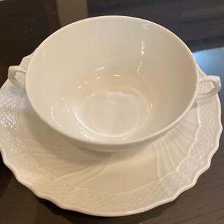 リチャードジノリ(Richard Ginori)のリチャードジノリ ベッキオホワイト スープカップ&ソーサーおまけつき(食器)