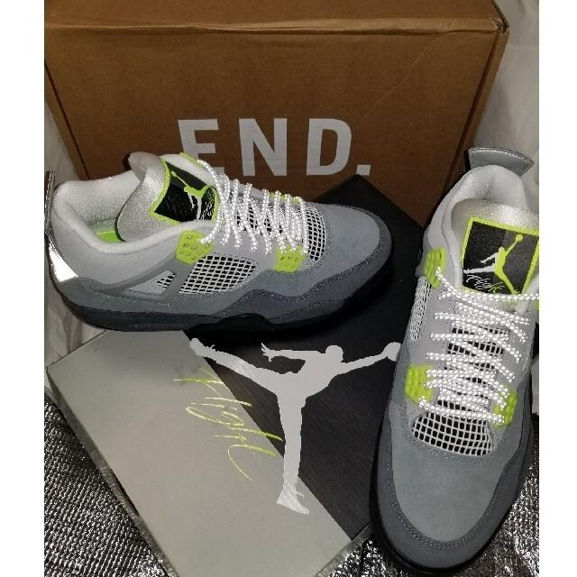 "NIKE(ナイキ)の【27.5cm】""NEON"" JORDAN 4 RETRO SE【新品未使用】 メンズの靴/シューズ(スニーカー)の商品写真"