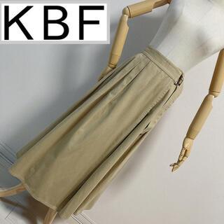 ケービーエフプラス(KBF+)のKBF+ ボリュームラップスカート ベージュ(ロングスカート)