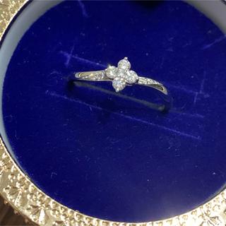 JEWELRY TSUTSUMI - 美品♪ プラチナ ダイヤモンド リング お花フラワーモチーフ