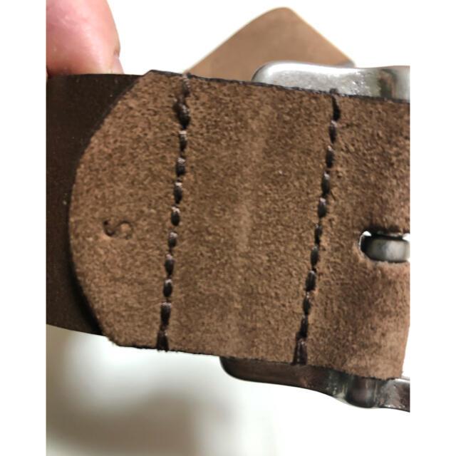 WHITEHOUSE COX(ホワイトハウスコックス)のホワイトハウスコックス ヌバック スエード ハンドメイド レザー ベルト メンズのファッション小物(ベルト)の商品写真