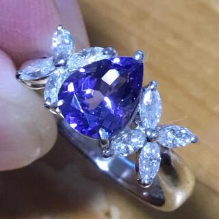 神秘的な青紫⭐️タンザナイト✨ダイヤモンド✨リング✨約10号✨指輪