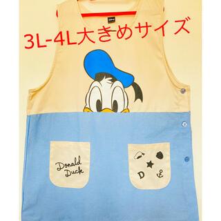 ディズニー(Disney)の新品未使用☆ドナルドダック 3L-4L大きめサイズ エプロン 保育士(その他)
