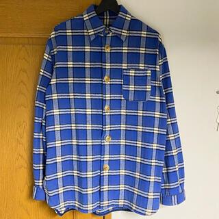 Marni - 【値下げ中】マルニ Marni ビッグボタン オーバーサイズチェックシャツ