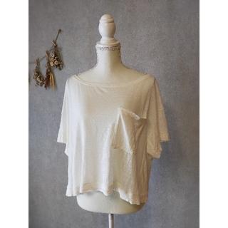 イリアンローヴ(iliann loeb)のiliann loeb  リネンTシャツ(Tシャツ(半袖/袖なし))