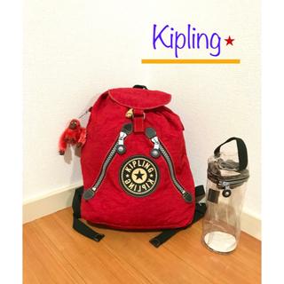 キプリング(kipling)の新品!キプリング kipling デザインリュック シリンダーケースセット(リュック/バックパック)
