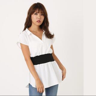 リエンダ(rienda)のrienda♡ ウエストリブスキッパーシャツトップス(シャツ/ブラウス(半袖/袖なし))