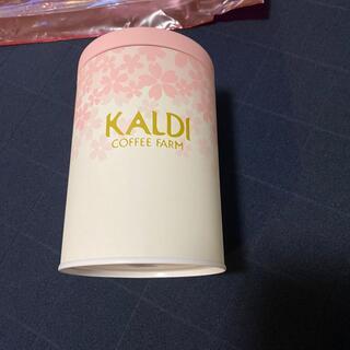 カルディ(KALDI)のカルディ 春のキャニスター缶 さくら柄(容器)