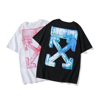 OFF-WHITE - 2枚9000円 人気  オフホワイト Tシャツ 男女兼用 BZ45