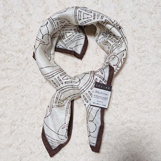 celine(セリーヌ)の《未使用》絹46%・綿54% CELINE 大判ハンカチーフ レディースのファッション小物(ハンカチ)の商品写真