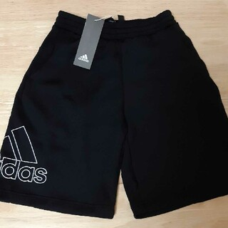 adidas - 新品adidas140cmハーフパンツブラックビッグロゴ 4059円