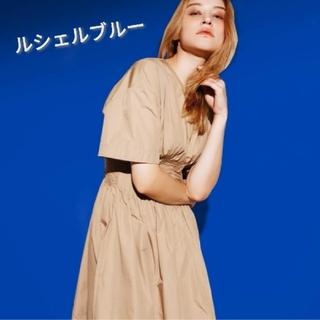 LE CIEL BLEU - 【ルシェルブルー】クラシック サマードレス ワンピース ベージュ Sサイズ