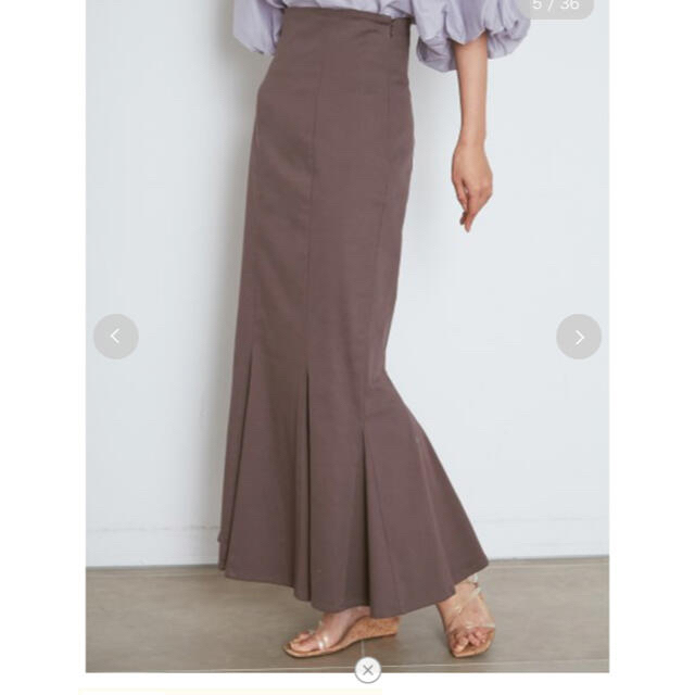snidel(スナイデル)の【新品タグ付き】ハイウエストヘムフレアスカート レディースのスカート(ロングスカート)の商品写真