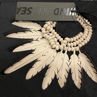 WIND AND SEA Feather Necklace SAND