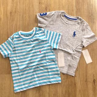 Ralph Lauren - ラルフローレン ベビー Tシャツ ボーダー ビッグポニー 子供服 90