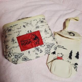 クマノプーサン(くまのプーさん)のくまのプーさん 保冷バッグ&ペットボトルホルダー(弁当用品)