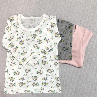 西松屋 - 【新品・未使用】3枚セット 長袖肌着 90