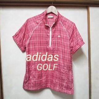 adidas - adidas ハーフジップ半袖ブレーカー ゴルフ レディース