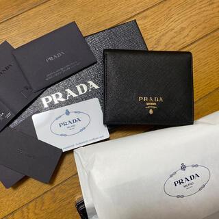 PRADA - 🐰PRADA 折財布 ブラック 黒